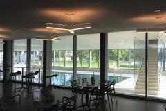 Brandschutzverglasung Restaurant-Hallenbad