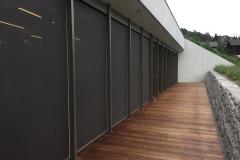 Pfosten-Riegelfassade Ruheraum