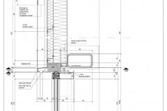 Vertikalschnitt Fassade Eishalle