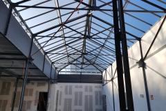Instand gestelltes, denkmalgeschütztes Glasdach