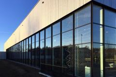Pfosten-Riegel-Fassade Schwimmhalle