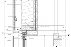 Vertikalschnitt Fenster Treppenhaus